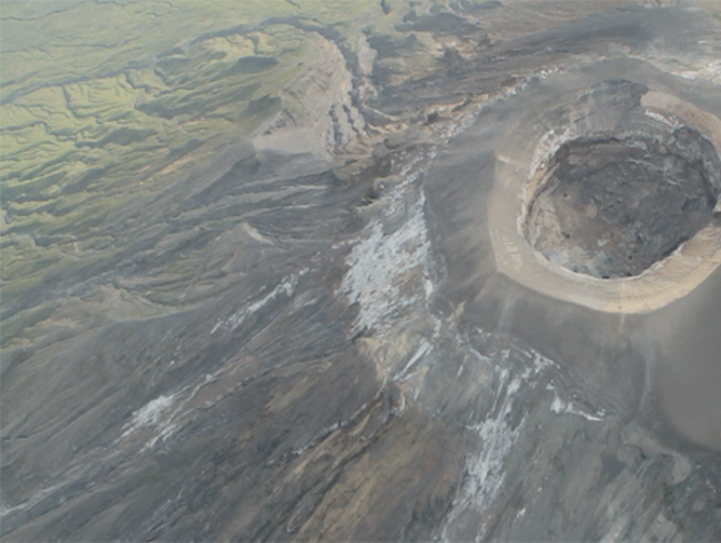 Over the Volcano, en route to the Serengeti