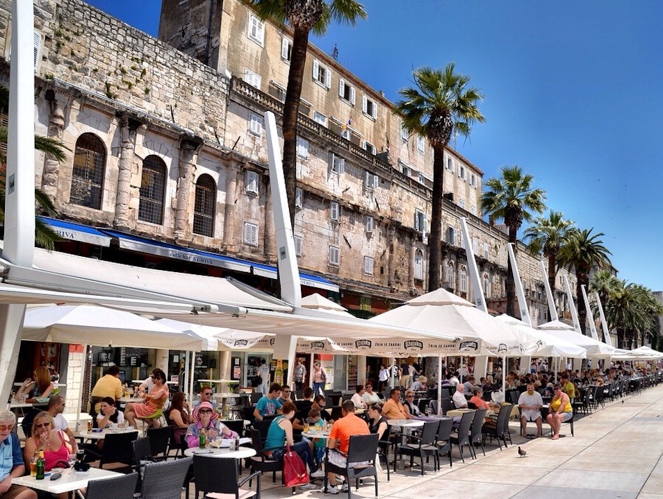 People Watching in Split Split  Croatia