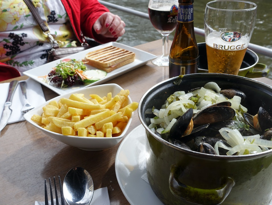 Mussels and frites Bruges  Belgium