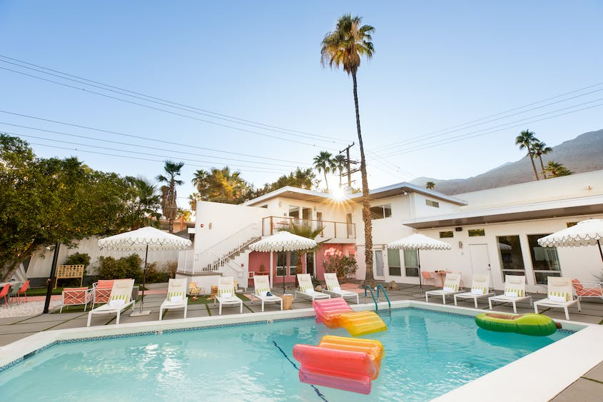 Grab your friends and stay at the 10-room The Wesley in Palm Springs.