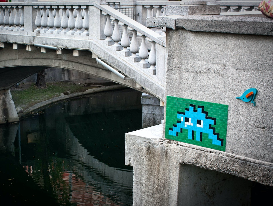 The Art of Space Invader Came Out of Nowhere… Ljubljana  Slovenia