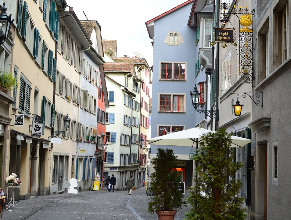 Stroll the Rindermarkt Zurich  Switzerland