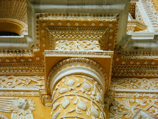 fondant-cake-façade in the Guatemalan Highlands