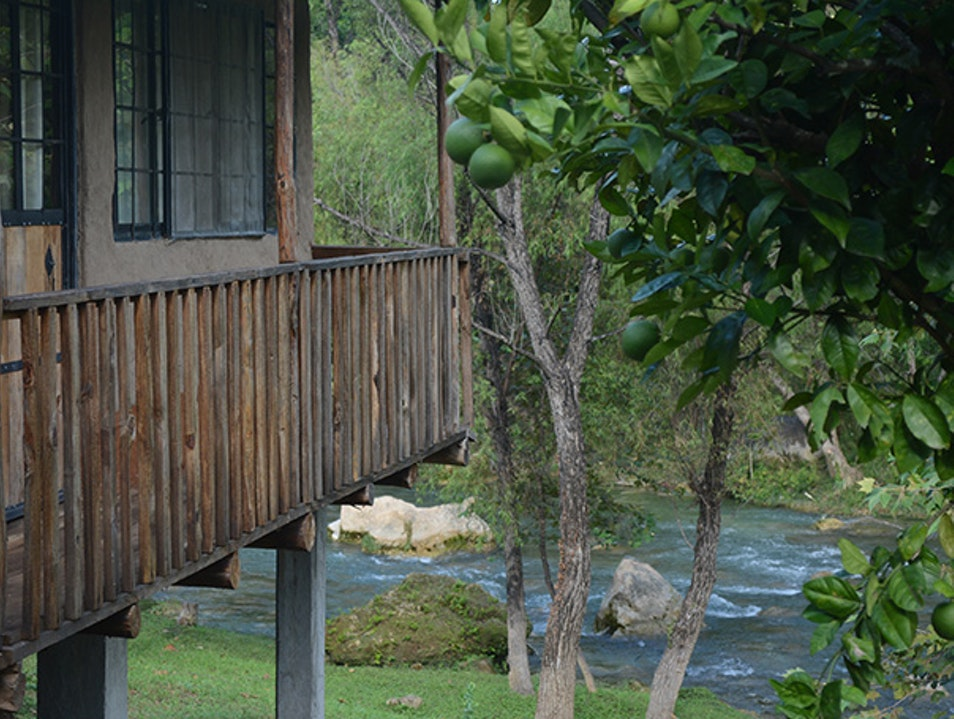 Ecocabins near the river Jalpan De Serra  Mexico