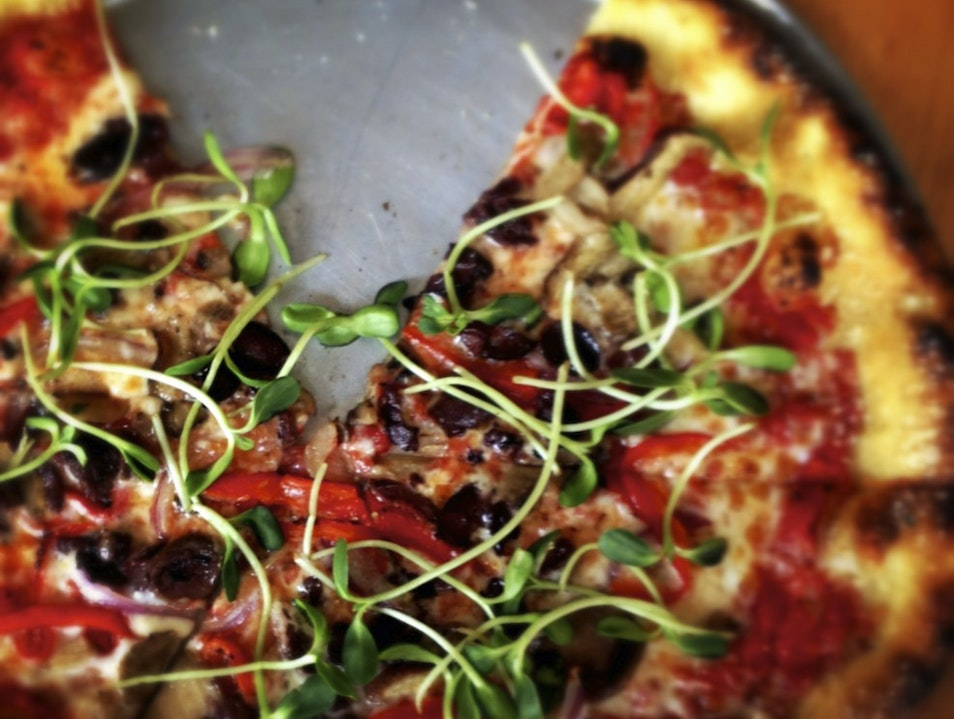 Simple Brick Oven Pizza Made from Local Ingredients Columbus Ohio United States