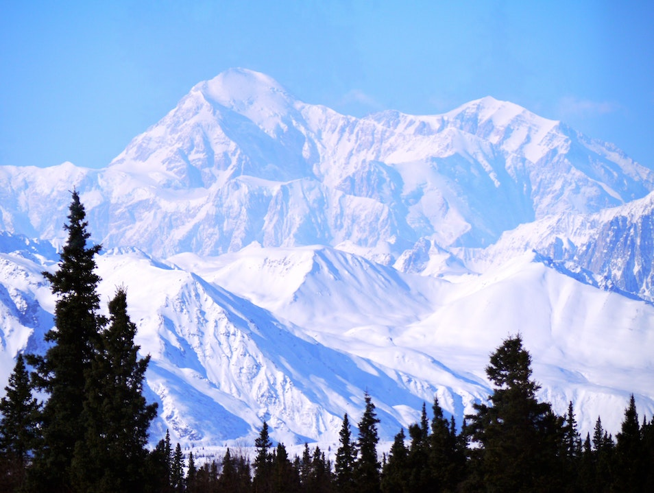 Denali from the Dining Car Anchorage Alaska United States