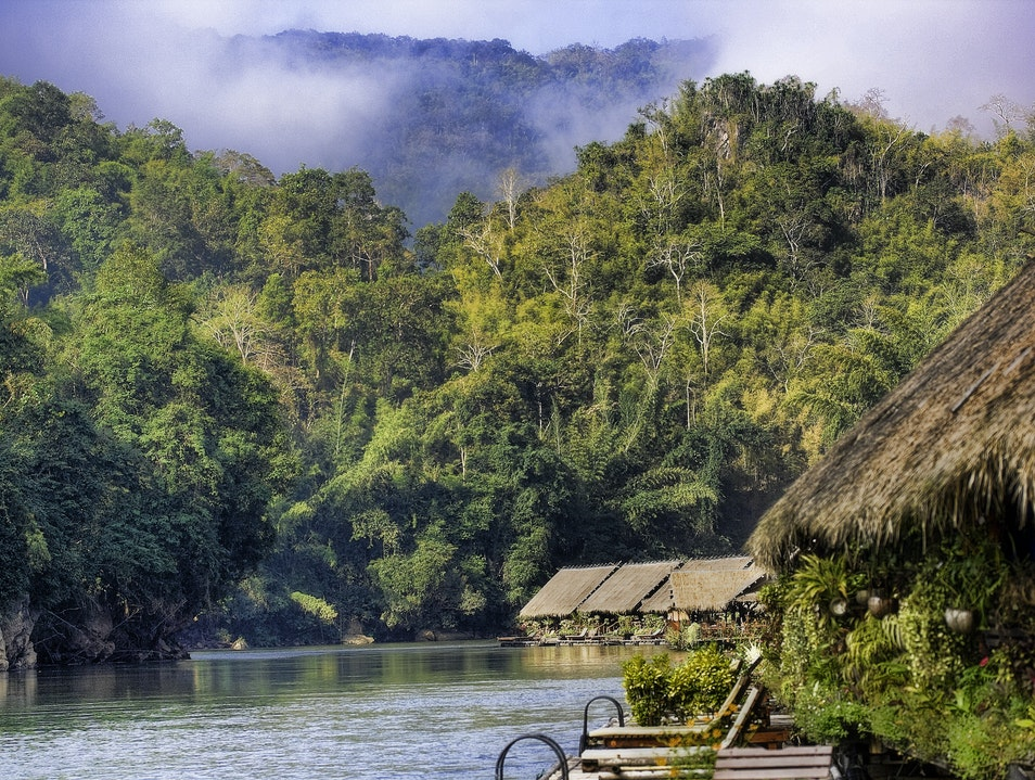 Floating Hotel on River Kwai Boek Phrai  Thailand