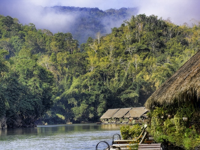 Floating Hotel on River Kwai