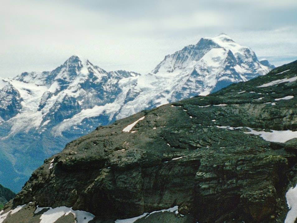 hiking in the Alps--disposable camera, permanent panorama Lauterbrunnen  Switzerland