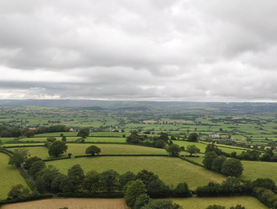 Hike above the Mystical Town of Glastonbury