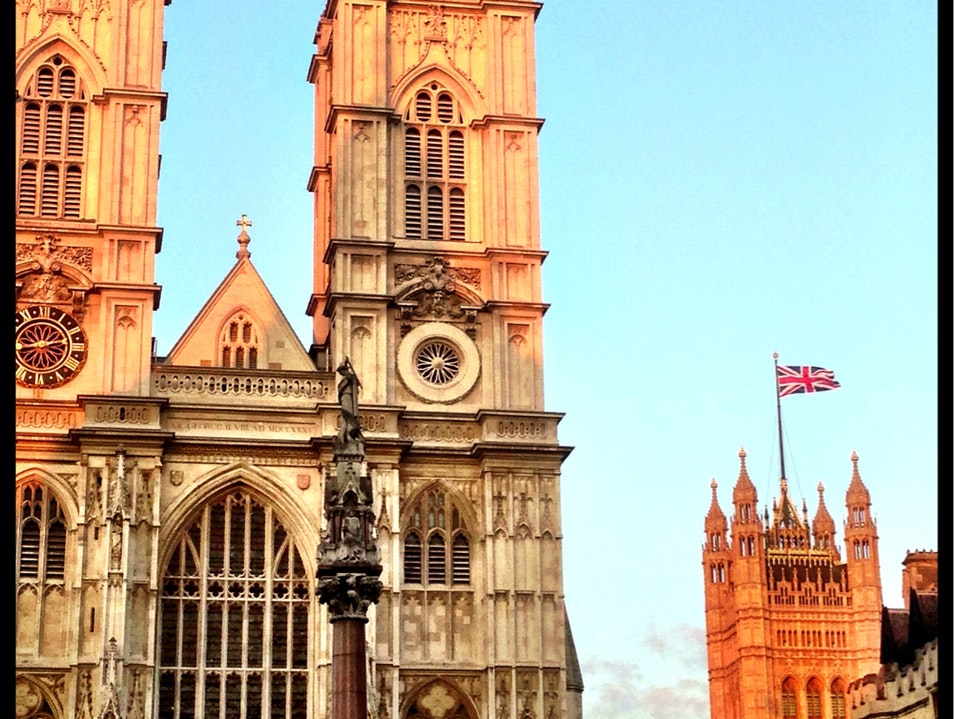 Westminster Abbey at sunset London  United Kingdom
