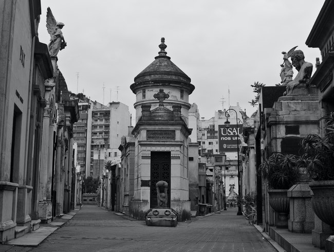 Wander through mausoleums in La Recoleta Cemetary