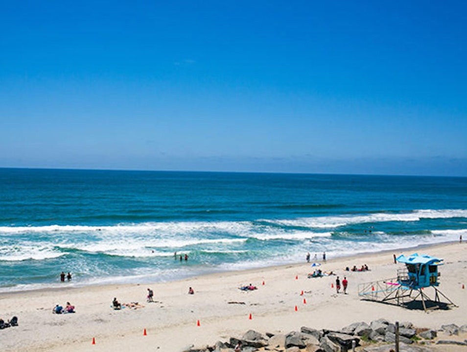 A Relaxing Day at a Carlsbad Beach Carlsbad California United States