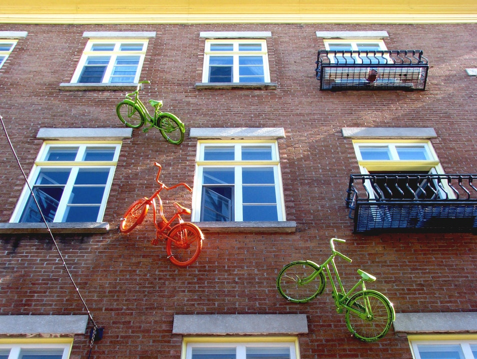 Unlikely Art: Riding on the Wall Quebec  Canada