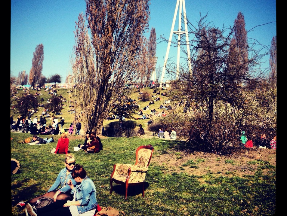 Chilling at Mauer Park Berlin  Germany