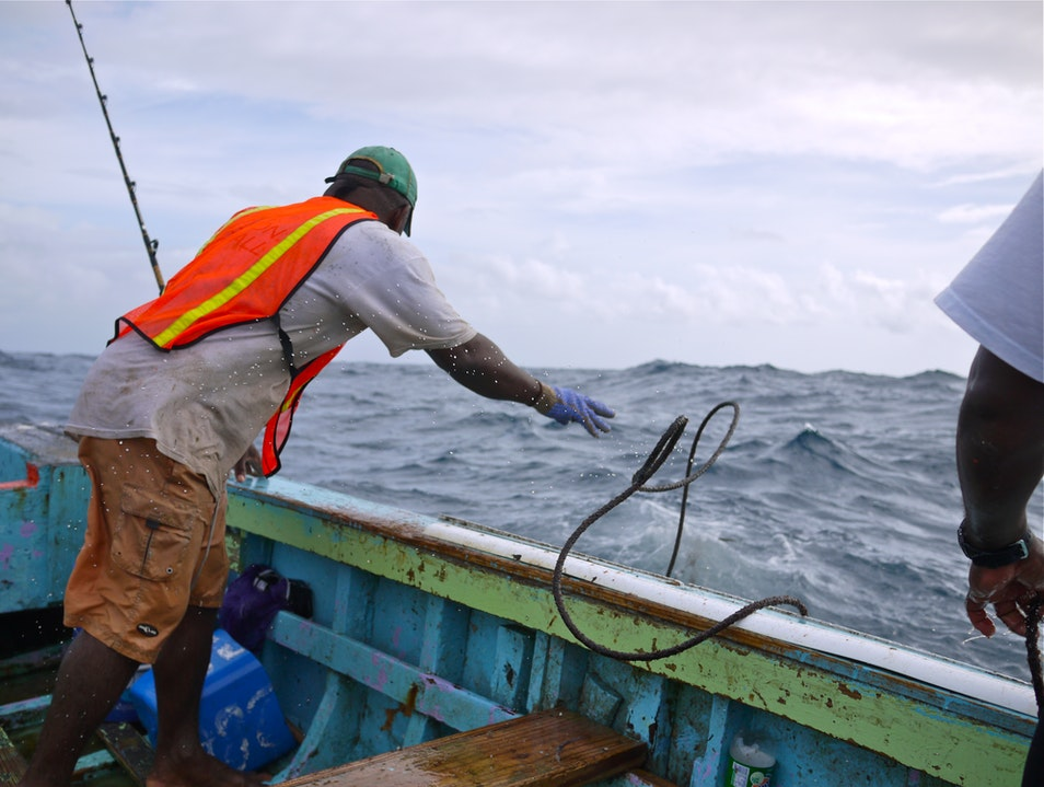 Fishermen of the Caribbean Charlestown  Saint Kitts and Nevis
