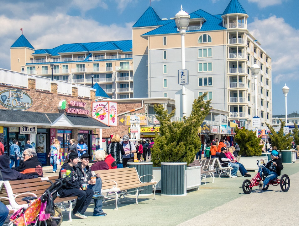 Maryland's Ocean City Boardwalk Ocean City Maryland United States