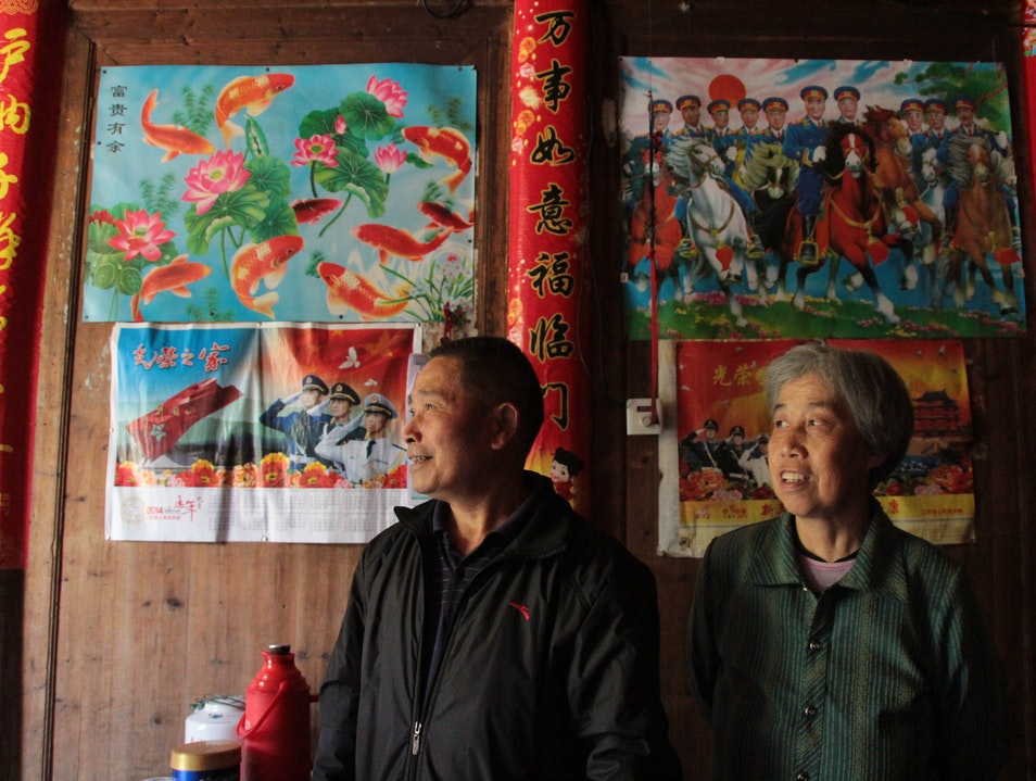 Drinking Tea with the  Elders in Sanqing, China