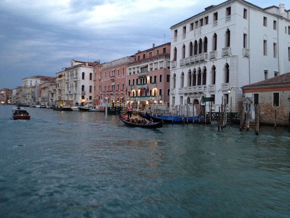 An Evening Trip on the Grand Canal Venice  Italy
