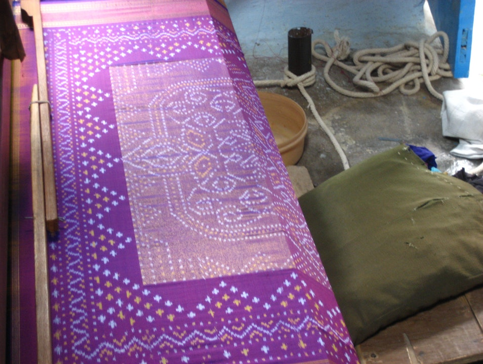 Textiles in Pochampally Village Bhoodan Pochampally  India