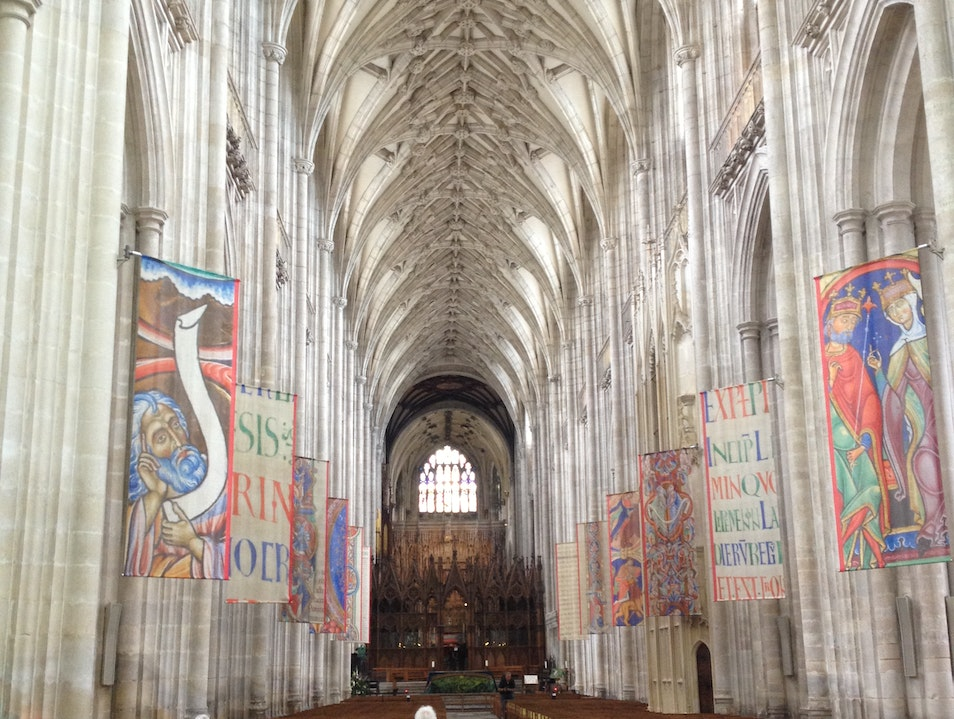 Beautiful Winchester Cathedral Winchester  United Kingdom