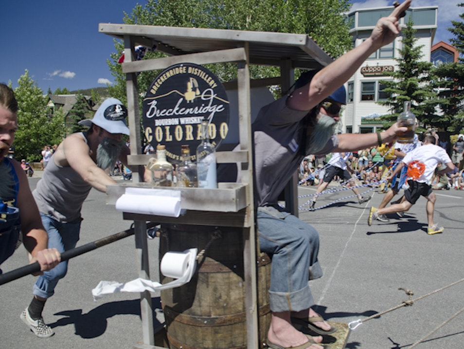 Outhouse Racin' at Breckenridge Kingdom Days Breckenridge Colorado United States