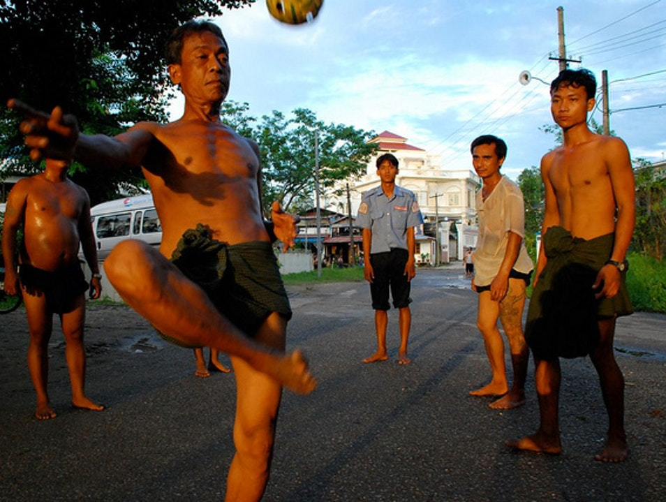 A Balletic Ball Game Sagaing  Myanmar