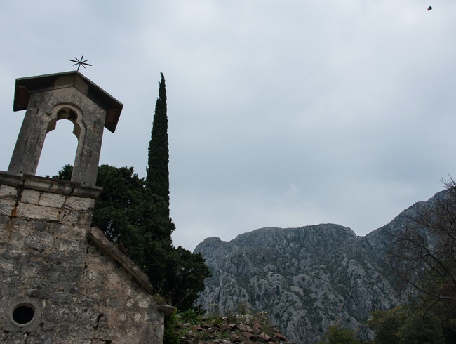 Climb through Kotor's wall to see ruins of an ancient village