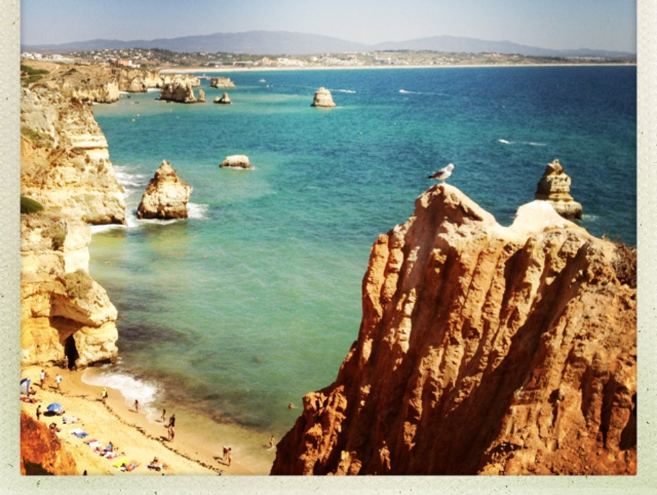 The beach coves of Lagos, portugal