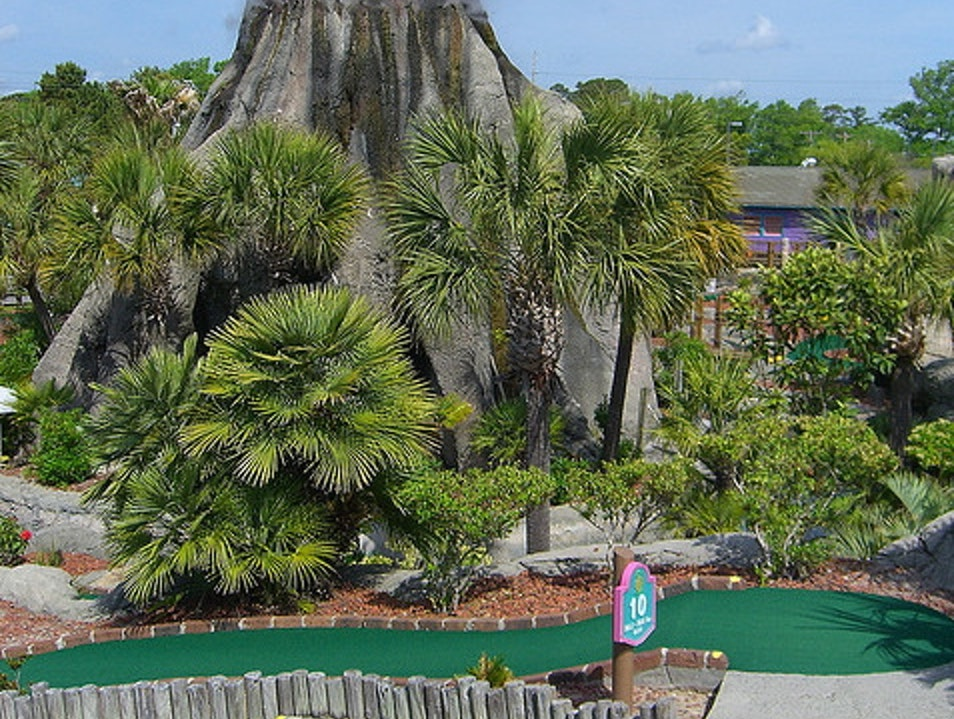 Hit a Hole in One Under a Volcano Orlando Florida United States