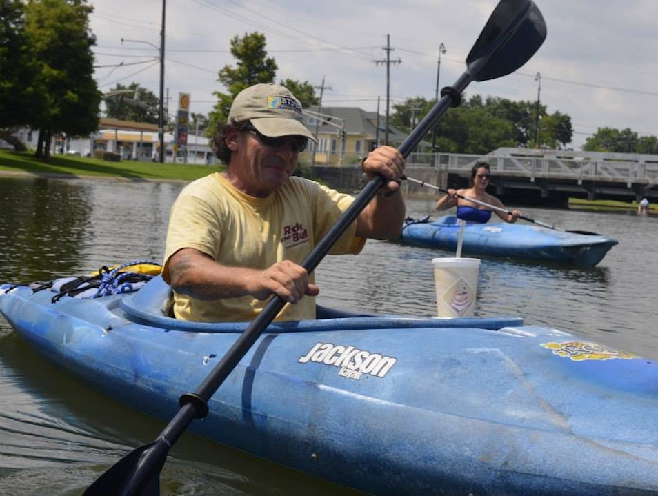 Kayaking Bayou St. John New Orleans Louisiana United States