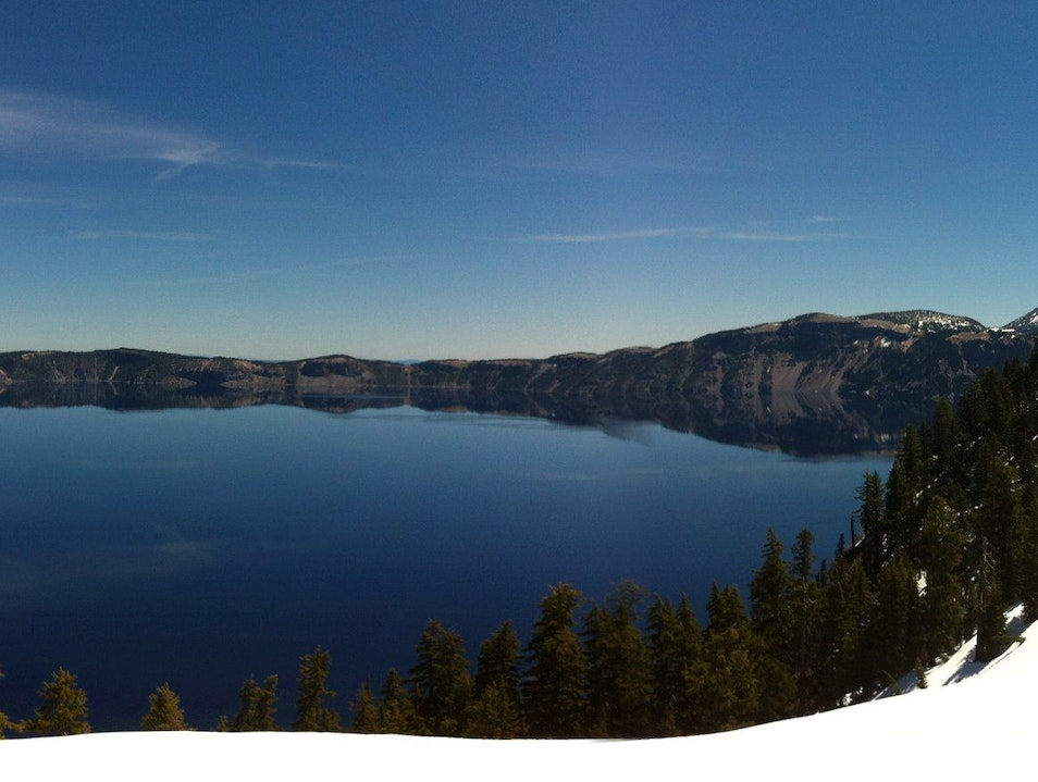 Crater Lake, early morning panorama Crater Lake National Park Oregon United States