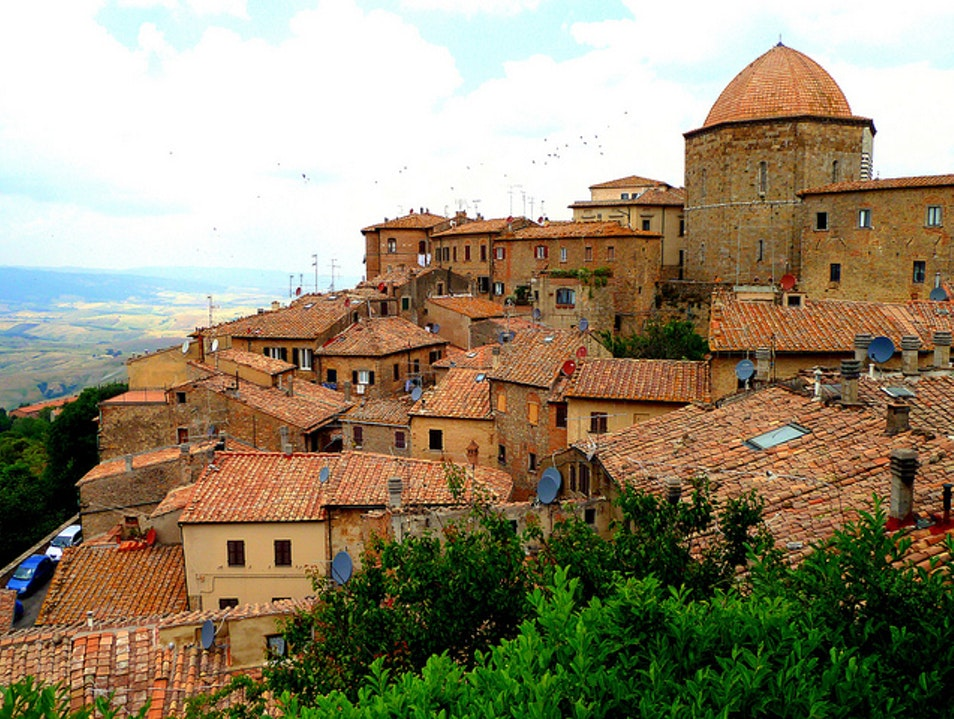 Head for the Hilltop Volterra  Italy