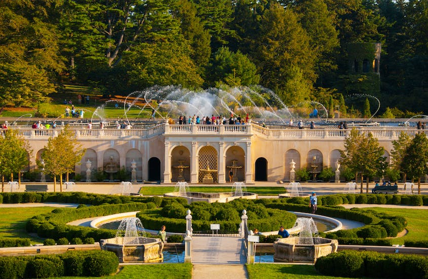 Longwood Gardens in Kennett Square, Pennsylvania, are a major attraction.