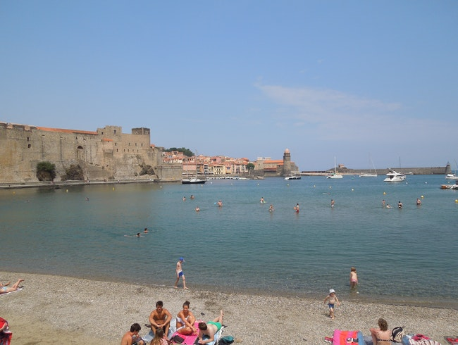 Plage de Port d'Avall, Collioure