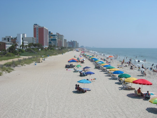 hanging out on Myrtle Beach