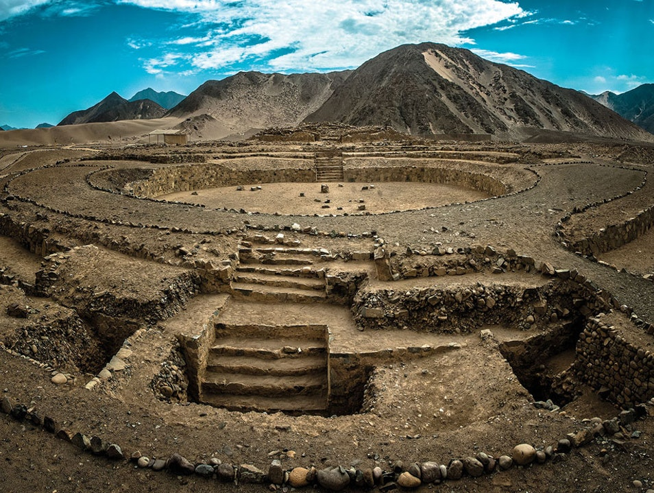 The Sacred City of Caral-Supe Caral  Peru