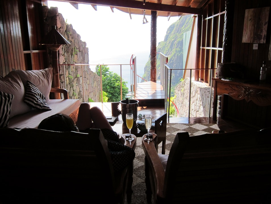 Who stays in a room with three walls? Jalousle  Saint Lucia