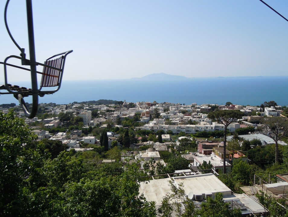 On Top of Capri All Covered in Sun Anacapri  Italy