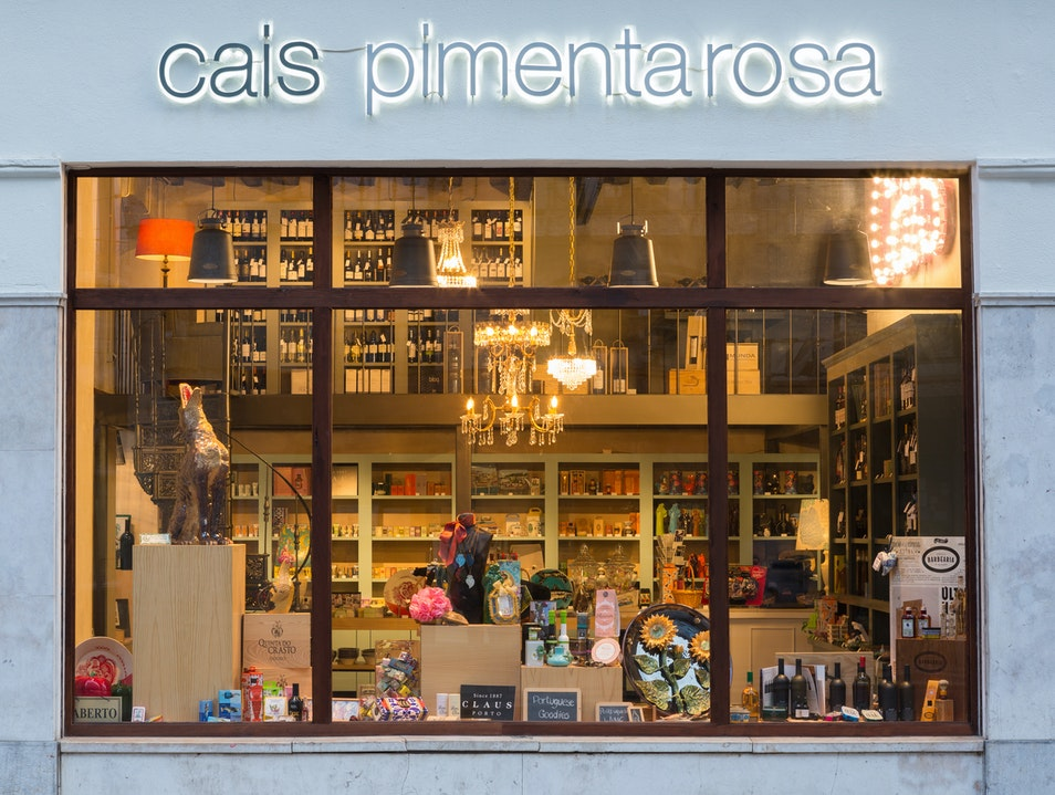 A glittering shop of Portuguese products Lisboa  Portugal