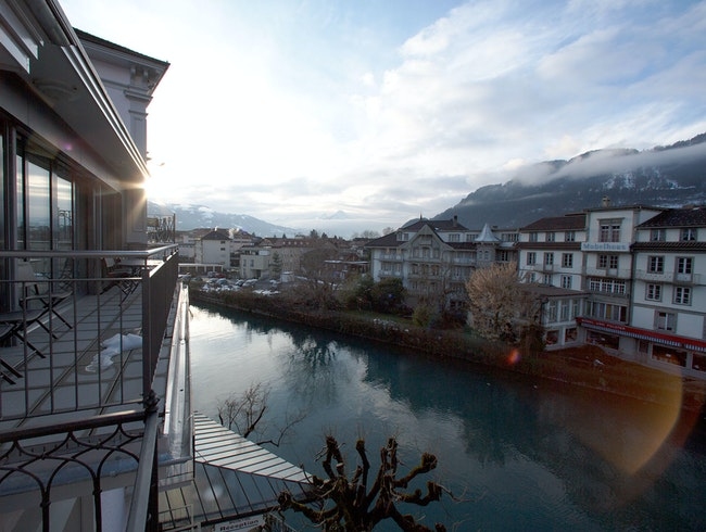 River and Mountain Views in Interlaken