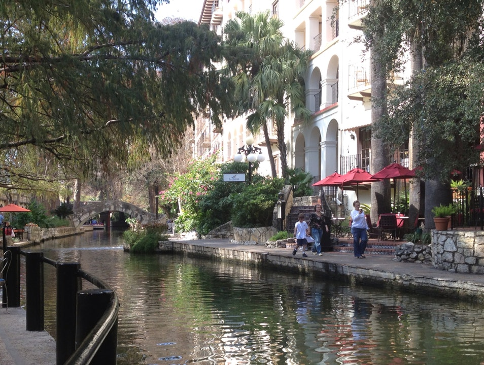 River Walk In January San Antonio Texas United States
