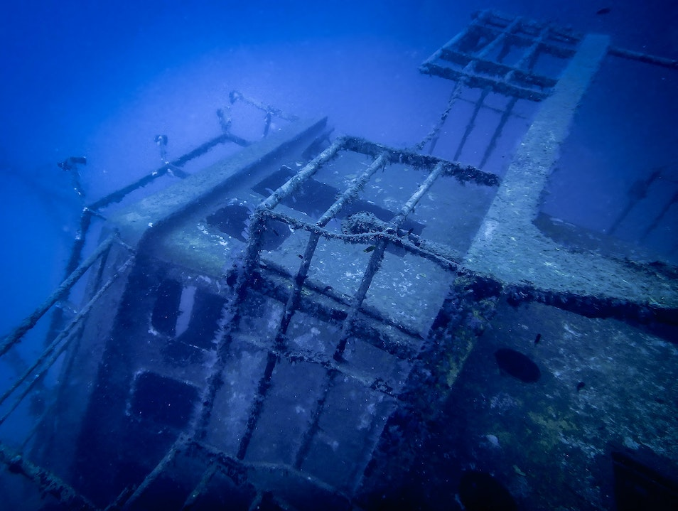 Wreck Diving off Tivua Island, Fiji
