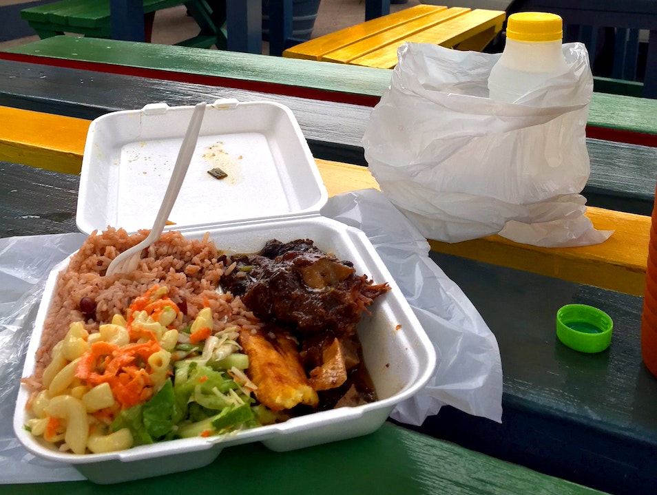 A classic Jamaican dish lunch MUST spot  Kingston  Jamaica