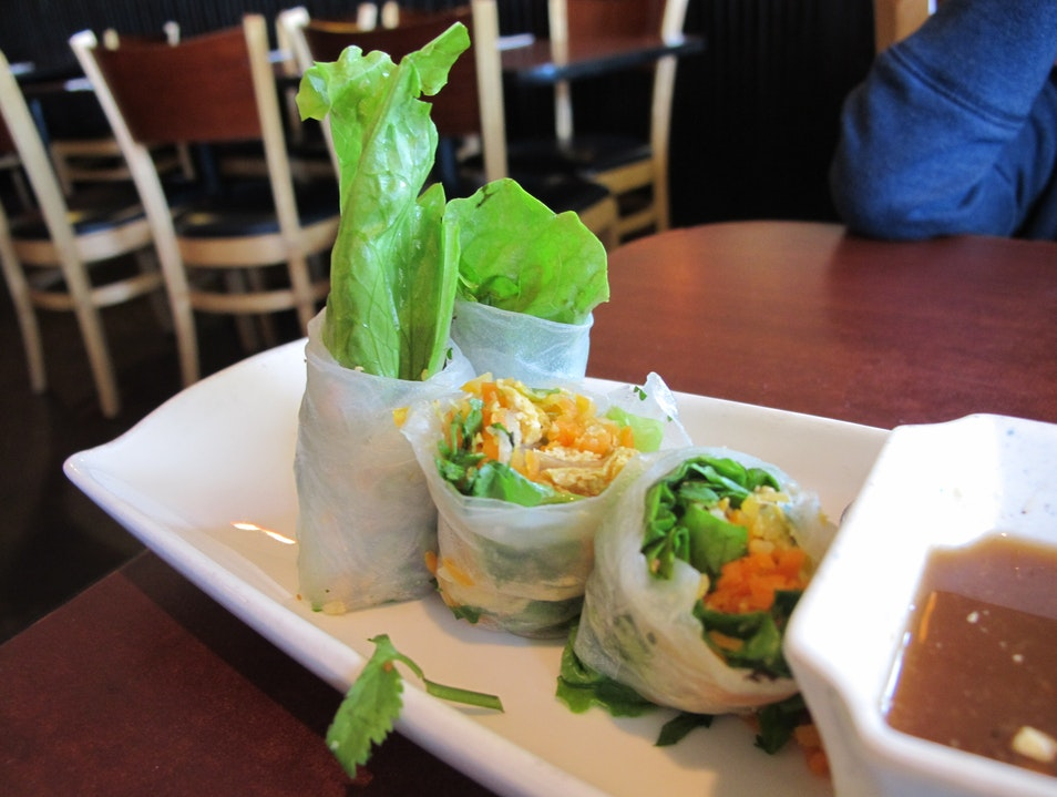 Vietnamese Vegan Food in a Buddhist Restaurant Sacramento California United States