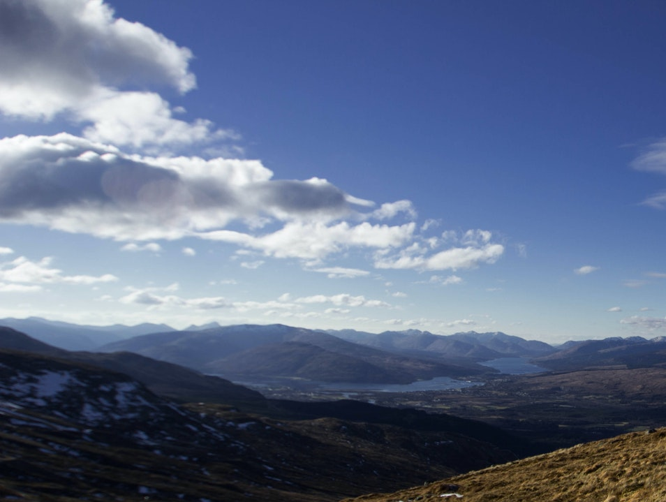 Taking in the View of the Scottish Highlands Fort William  United Kingdom