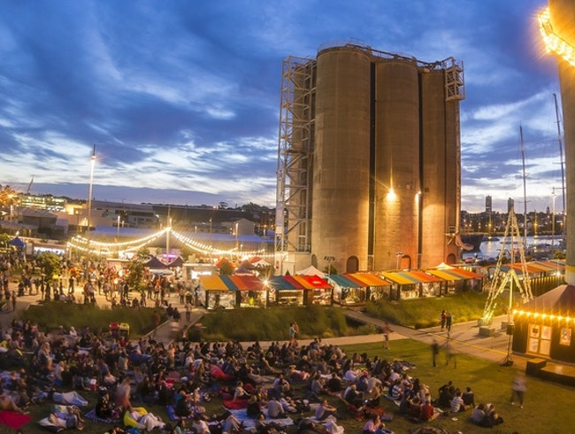 Outdoor movies at Silo Park
