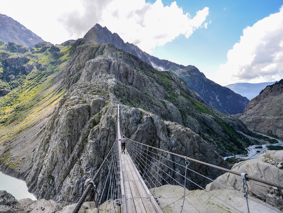 Bridge walk Gadmen  Switzerland
