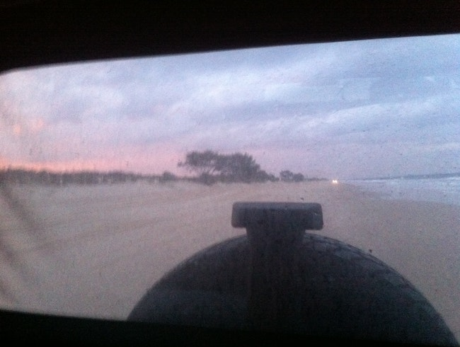 4WDing on Bribie Beach