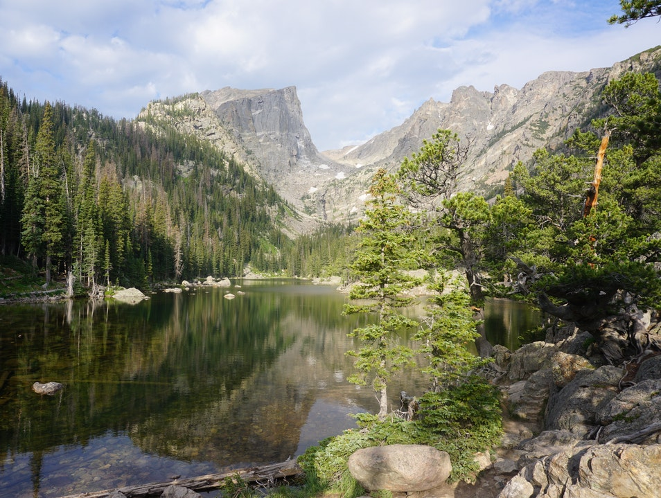 The astonishing Dream Lake in Rocky Mountain National Park Estes Park Colorado United States